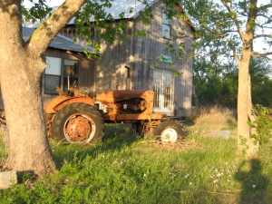 My great Uncle Fritz's tractor, which remains on the old homestead in Texas.